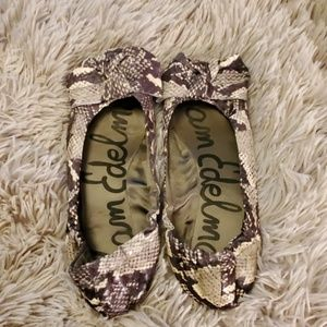 "Snakeskin print Sam Edelman ""domenique "" flats"